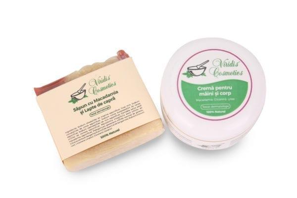 et cosmetic pentru hidratarea pielii cu ulei de Macadamia